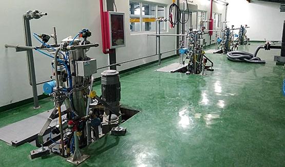 Cyclone de transfert pneumatique sur process produits chimiques