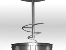 Hélice conique du dévoûteur à fond conique
