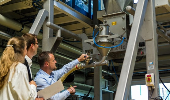 Station d'essais Palamatic process à échelle industrielle