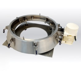 Vibratory sieve without internal cone