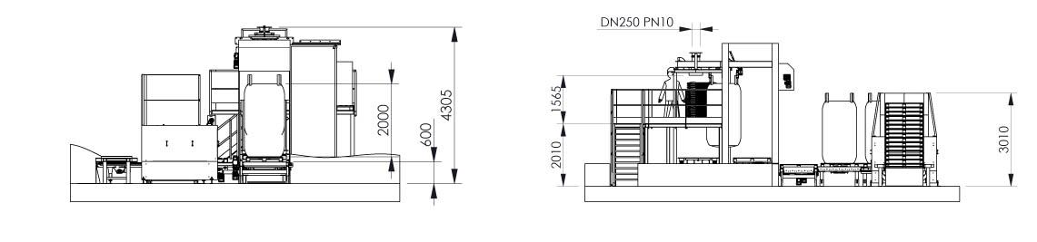 PLan et dimensionnel - Ligne de conditionnement big bag - Flowmatic 10 - Palamatic Process