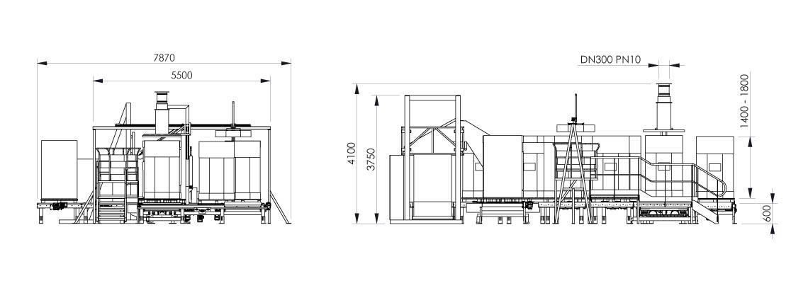Plan de la station de conditionnement octabins - OC3