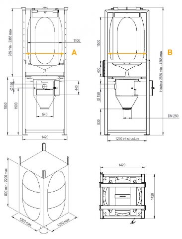 Vidange big bags chargement chariot Palamatic Process