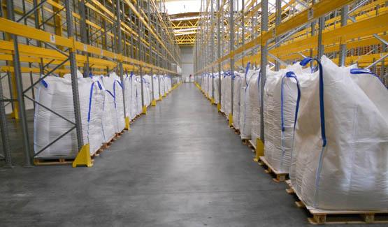 Big bags amidon process poudre