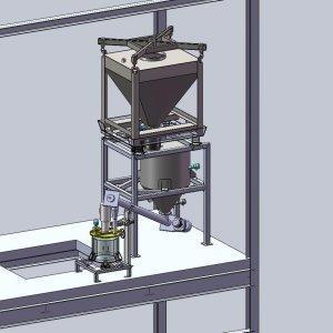 Implantation conteneur acier inox