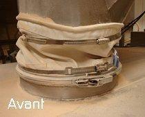 Manchette vibration extraction industrielle