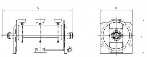 Plan mélangeur à ruban chargement par manchon