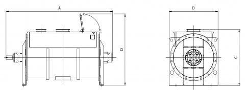 Plan mélangeur à ruban chargement par trémie