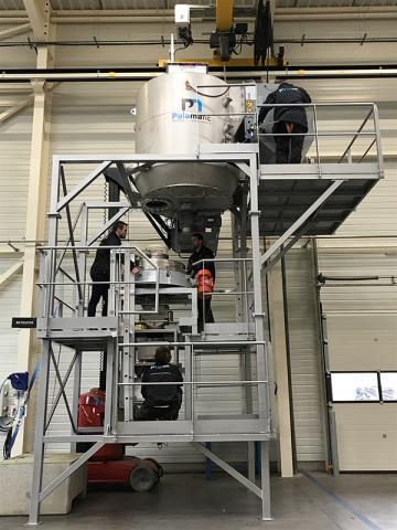 Ligne de production de traitement des poudres pour du gluten