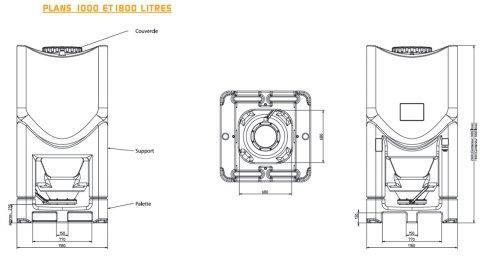 schema dimension conteneur polyethylene