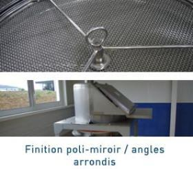 Finition poli-miroir et angles arrondis