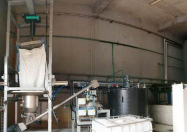 Station de vidange big bag