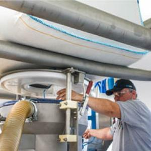 Vidange big bag tube télescopique