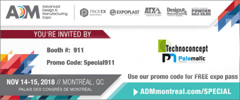 Palamatic Process Inc participe au salon ADM au Canada